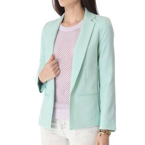 Club Monaco Karina mint Tiffany blue blazer jacket